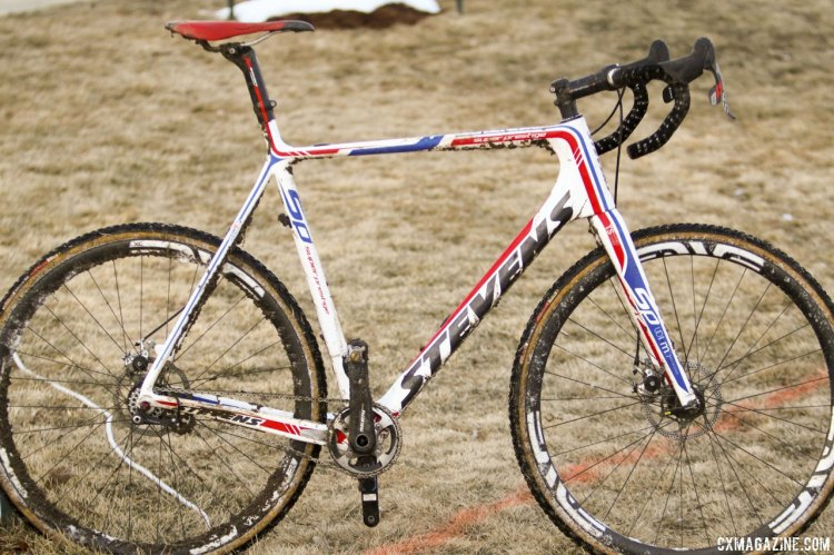 Brady Kappius' singlespeed Stevens from the 2014 Cyclocross National Championships. © Cyclocross Magazine