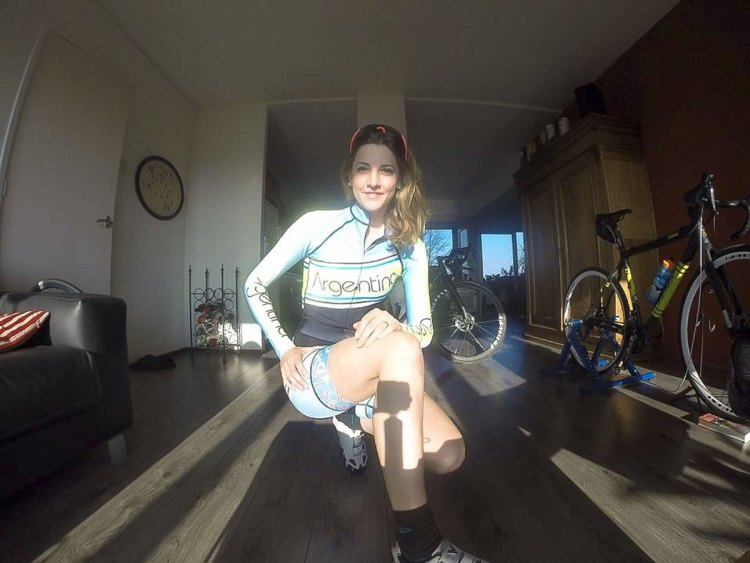 Caro Gomez Villafañe in her Argentina kit, ready for the 2015 World Championships in Tabor. photo: courtesy