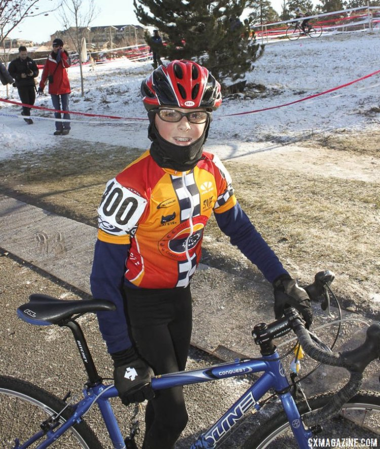 Gage Hecht after his first win at Nationals in 2009 in Bend - improving on his silver in 2008. © Cyclocross Magazine