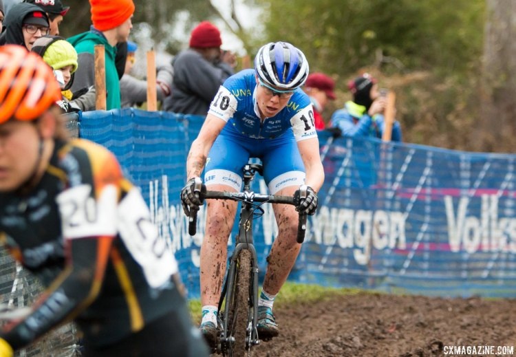 Georgia Gould finished second behind Katie Compton four times. © Cyclocross Magazine