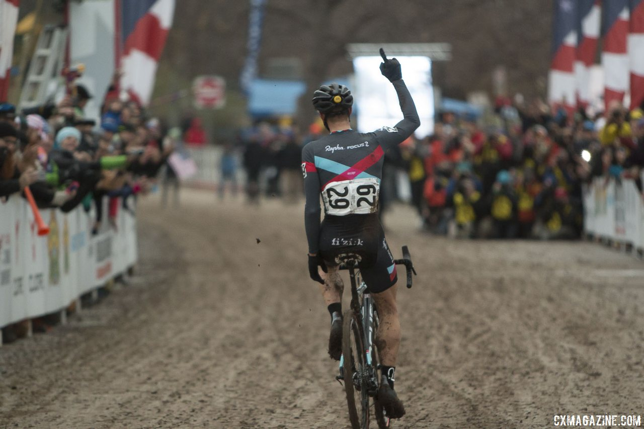 powers-crosses-the-line-with-his-finger-skyward-showing-hes-number-one-for-the-second-year-in-a-row-cyclocross-magazine