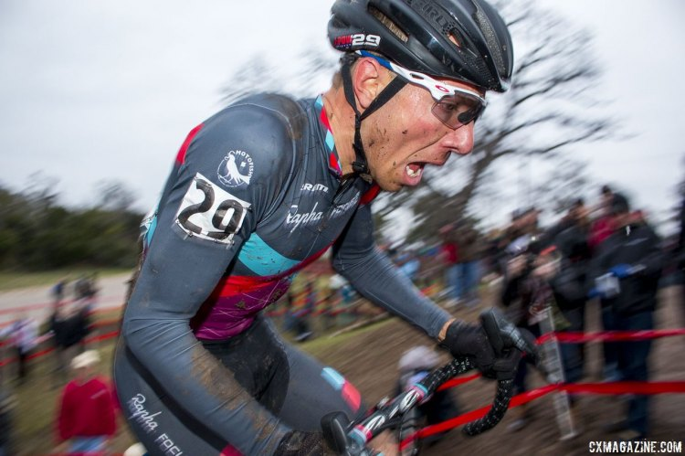 Jeremy Powers used all the oxygen and skills he could muster to hold off a chasing Jonathan Page to take his third Elite National Championship. © Cyclocross Magazine