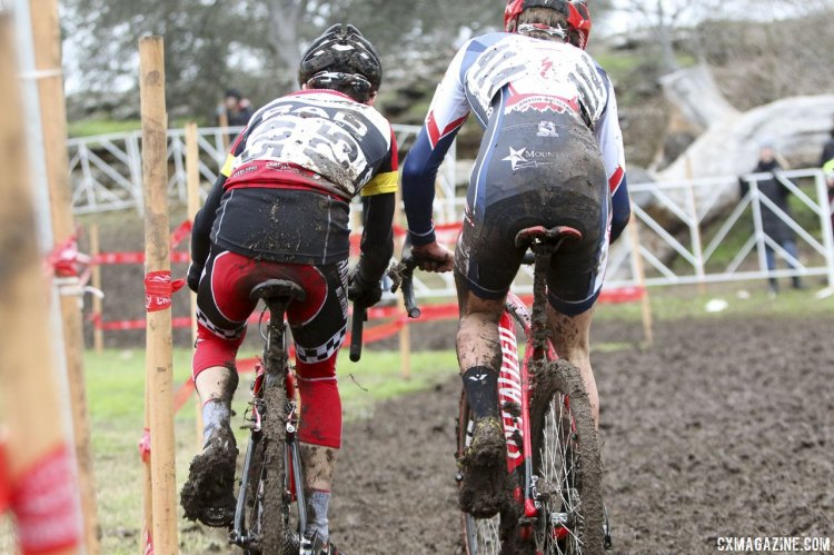 Clouse and Funston had an epic battle for the Junior Men's 15-16 National Championship. © Cyclocross Magazine