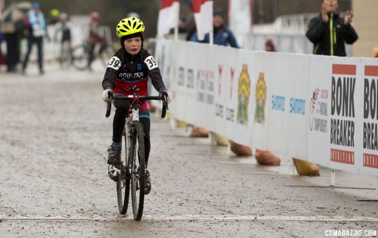 Carden King, winner of the Junior Men's 9-10 race. © Cyclocross Magazine