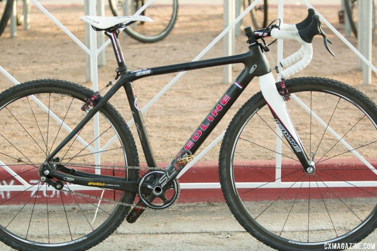 "Justin Lindine's ""Prototype"" Singlespeed Redline Conquest - 2015 Cyclocross National Championships © Cyclocross Magazine"