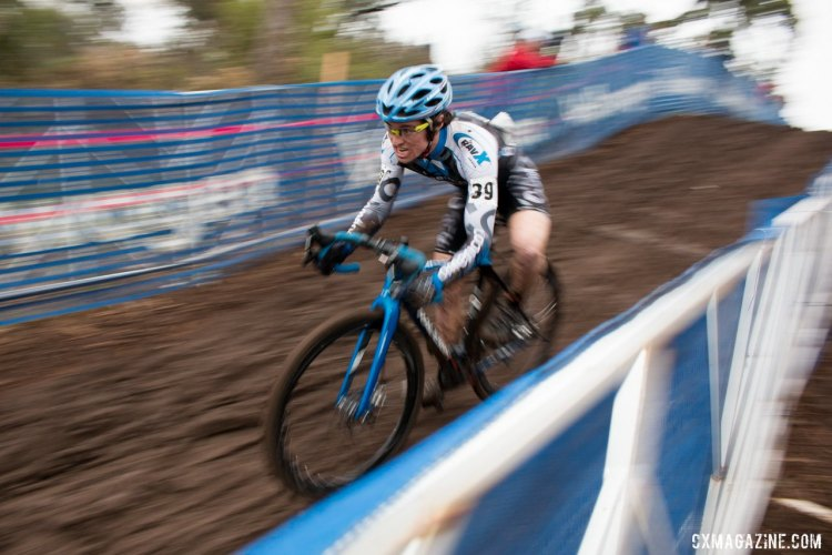 Lewis Gaffney of New Mexico slipped into the top 30. © Cyclocross Magazine