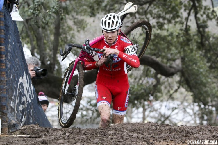 Owen had no problems managing the run-ups at Zilker Park. © Cyclocross Magazine