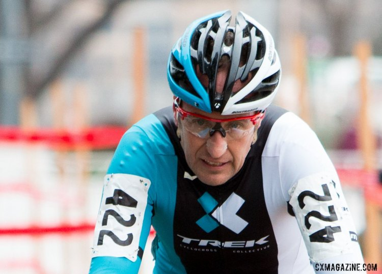 Mark Savery is no stranger to second in the Masters 40-44 race, and finished runner up again. © Cyclocross Magazine