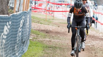 Dwight turned the tables and hit the front on lap two. © Cyclocross Magazine