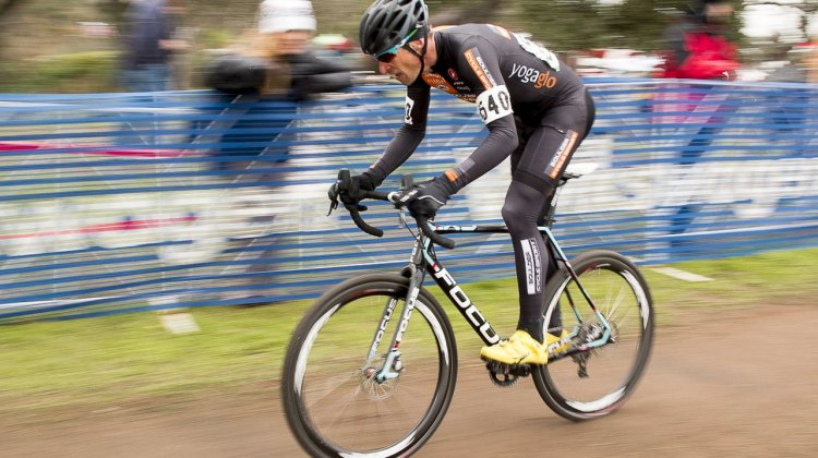 Pete Webber moves up in category, wins 45-49 Masters Men, 2015 Cyclocross National Championship. © Cyclocross Magazine
