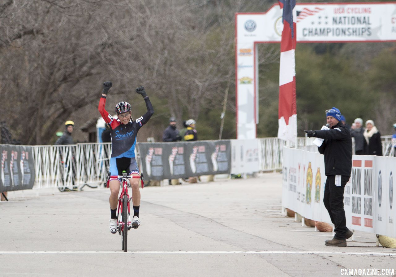 Catherine Moore from Waco, Texas took her first cyclocross title today. © Cyclocross Magazine