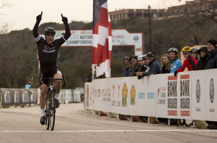 Craig Cozza wins the Masters 50-55 Race at 2015 Cyclocross National Championships