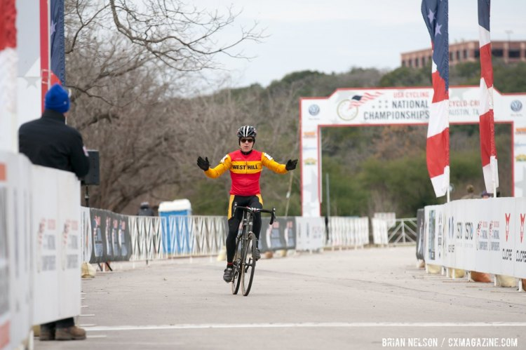 Phillip Bannister ( Putney/West Hill) kept an early lead to take the win. © Brian Nelson
