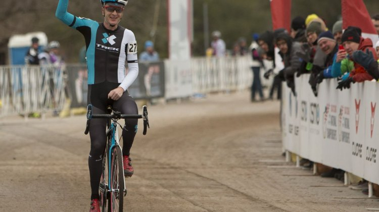 Matt Shriver won the Masters 35-39 race after a big battle with Jacob Lasley. © Cyclocross Magazine