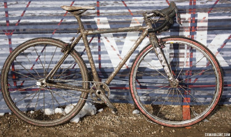 Mo Bruno-Roy's Seven Cycles Mudhoney singlespeed cyclocross bike from Boulder (it was her pit bike for 2015). © Cyclocross Magazine