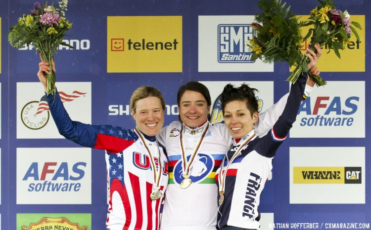 Katie Compton's second silver at the 2013 World Championships in Louisville remains the last US medal at Worlds. © Nathan Hofferber / Cyclocross Magazine