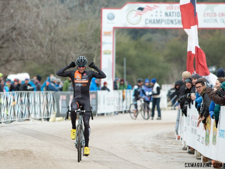 Pete Webber ages up, wins 45-49 National Championship in Austin. © Cyclocross Magazine