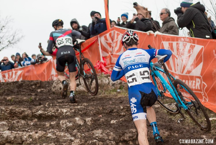 But for a flat at the 2015 Cyclocross National Championships, Jonathan Page may have gotten his male record-tying fifth Nationals win. © Cyclocross Magazine