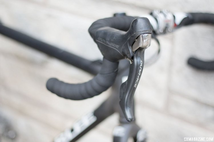 Well used Dura-Ace 10-speed shifters are still going strong. © Cyclocross Magazine