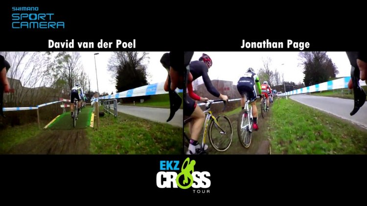 The EKZ CrossTour at Eschenbach, presented by the head tubes of Page and Van der Poel. photo: shot from EZK CrossTour