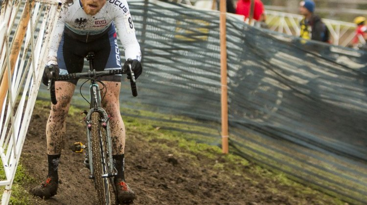 Stephen Hyde had a strong ride to boost his Worlds team chances. 2015 Cyclocross National Championships - Elite Men. © Cyclocross Magazine
