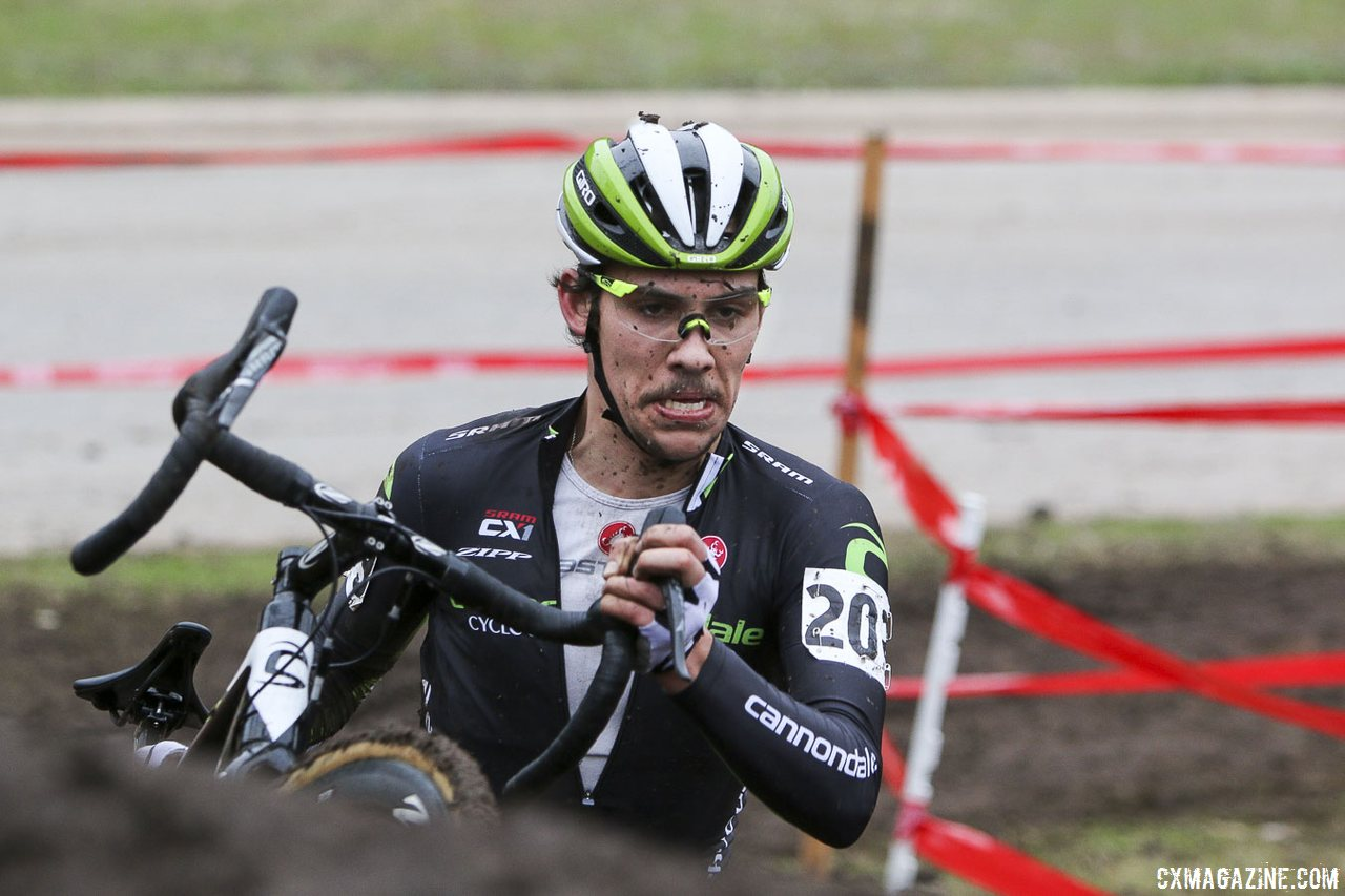 Curtis White has been with Thorne's program since he was 18. 2015 U23 Cyclocross Nationals. © Cyclocross Magazine