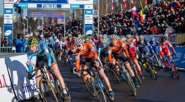 The start of the 2015 U23 Men Cyclocross World Championships. © Mathew Lasala / Cyclocross Magazine