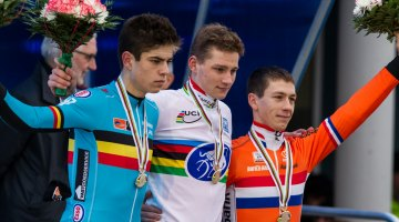 Van Aert, van der Poel and van der Haar. © Mike Albright / Cyclocross Magazine