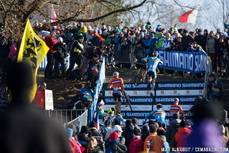 The fans came out in droves on Sunday. U23 Men - 2015 Cyclocross World Championships © Mike Albright / Cyclocross Magazine