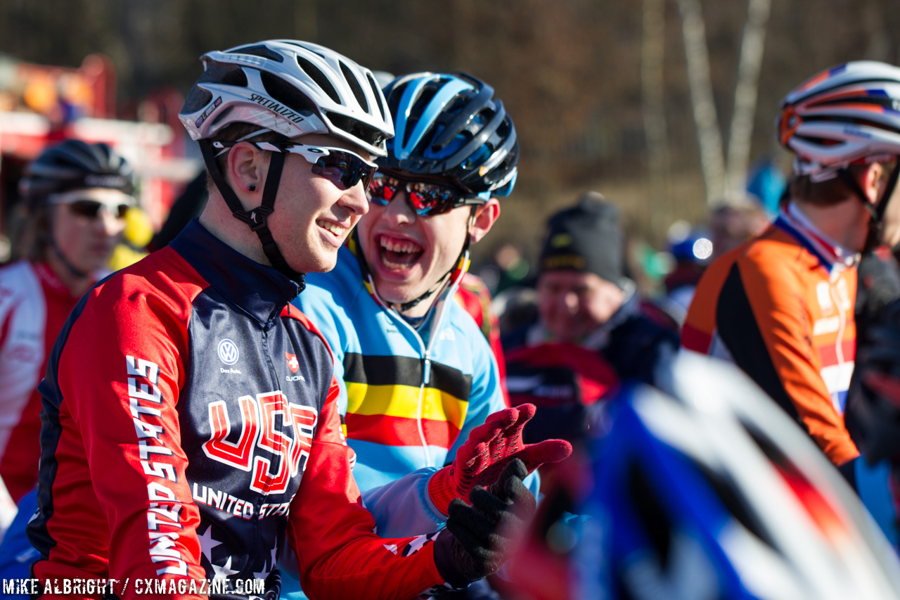 logan-owen-shares-a-laugh-with-a-belgian-u23-men-2015-cyclocross-world-championships-mike-albright-cyclocross-magazine