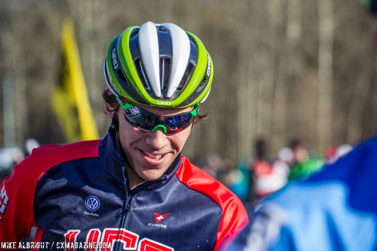 Curtis White before the game begun. U23 Men - 2015 Cyclocross World Championships © Mike Albright / Cyclocross Magazine