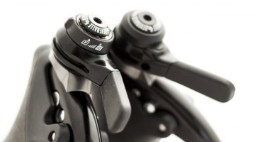 Gevenalle's new GX Shimano 10-speed Dyna-Sys-compatible shifters bring Shadow Plus compatibility to drop-bar cyclists. There's still a friction option should you need it. © Cyclocross Magazine