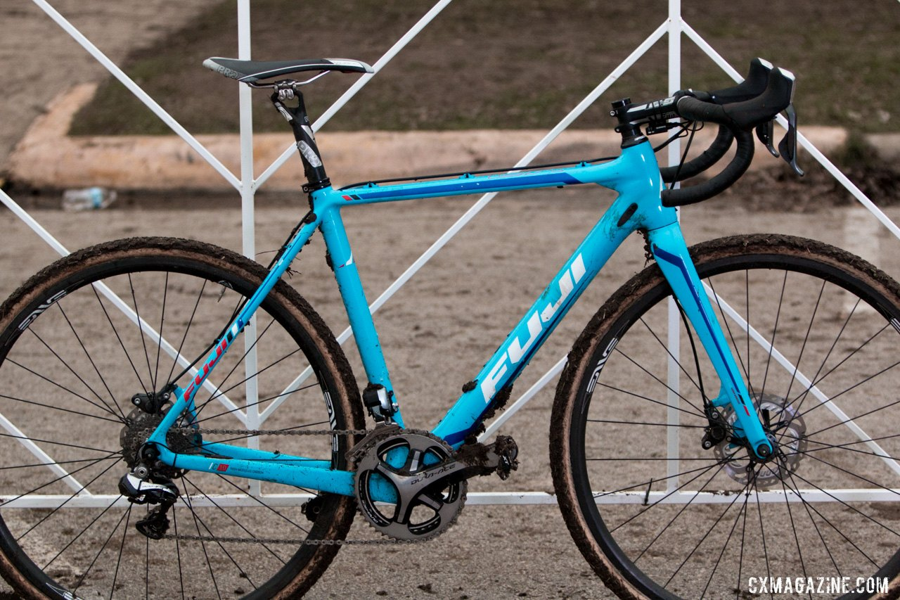 Jonathan Page rode a Fuji Altamira CX 1.1 at the 2015 Austin Cyclocross Nationals. © Cyclocross Magazine