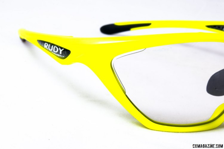 There's some venting on the corners, which is effective but subtle. Rudy Project Firebolt photochromatic sunglasses. © Cyclocross Magazine