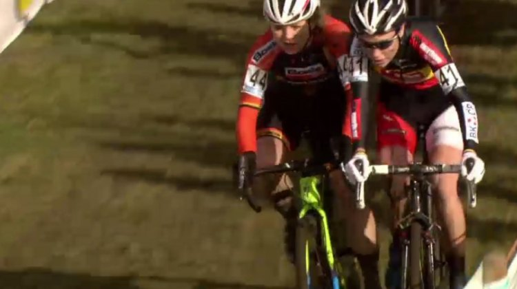The Sanne's rub shoulders at Superprestige Hoogstraten