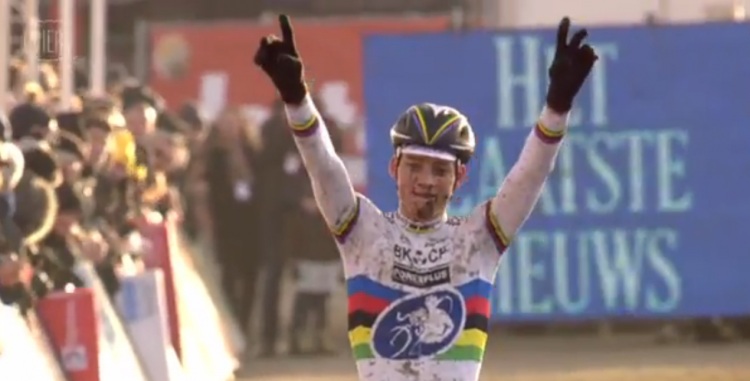 Van der Poel has become the rider to beat in 2015. Photo: Vier footage.