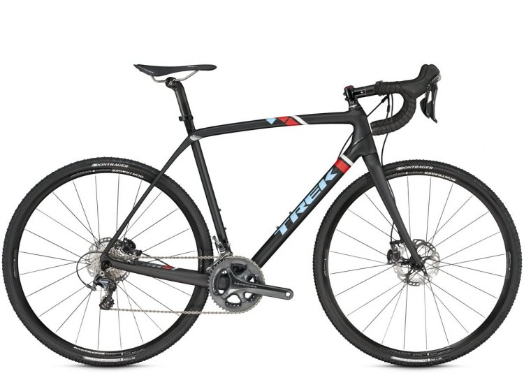 Trek's 2016 Boone Disc 9, with Shimano Ultegra, hydraulic brakes and a full carbon steerer tube. Photo from Trek Bicycles.
