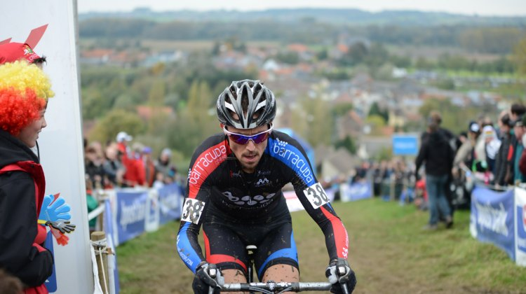 Patrick Gaudy, shown here at Koppenburg cross, was tragically killed by a truck on a training ride.