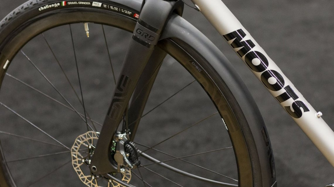 ENVE Composite' GRD (Gravel Road Disc) thru axle fork seen on the Moots Dirt Road prototype bike. NAHBS 2015. © Cyclocross Magazine
