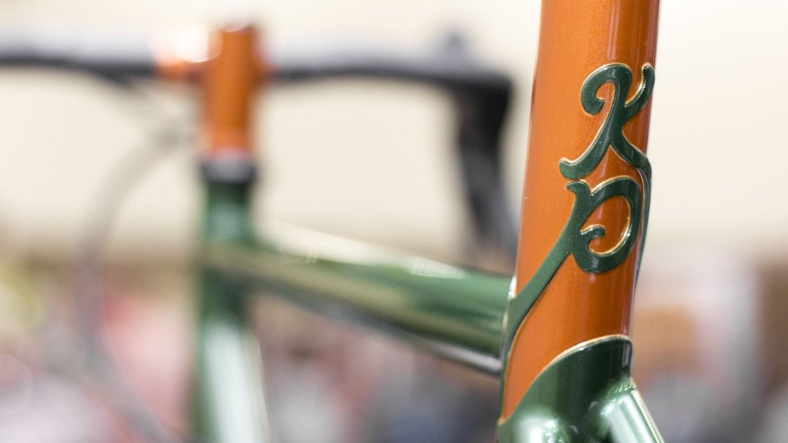Lovebaum's brazed cyclocross frameset. NAHBS 2015. © Cyclocross Magazine