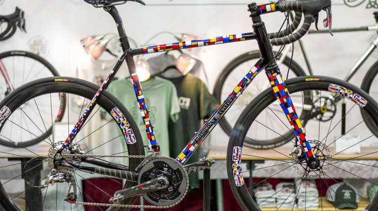 Best Finish Winner Shamrock Cycles' road/gravel steel disc bike. NAHBS 2015 © Cyclocross Magazine