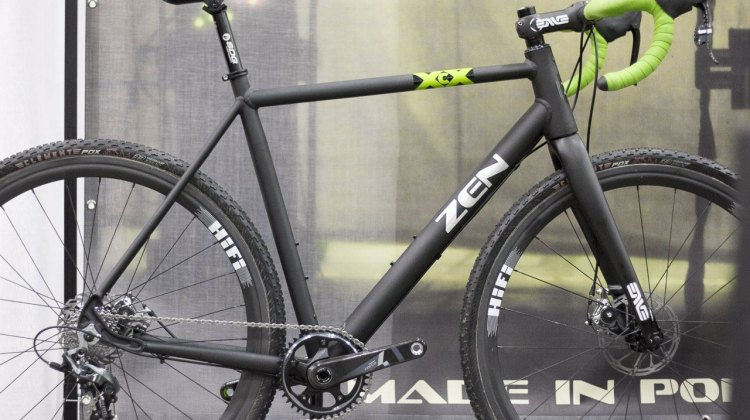 Zen Bike Co.'s Cross handmade frameset comes with an ENVE Cross fork for $1699. NAHBS 2015. © Cyclocross Magazine