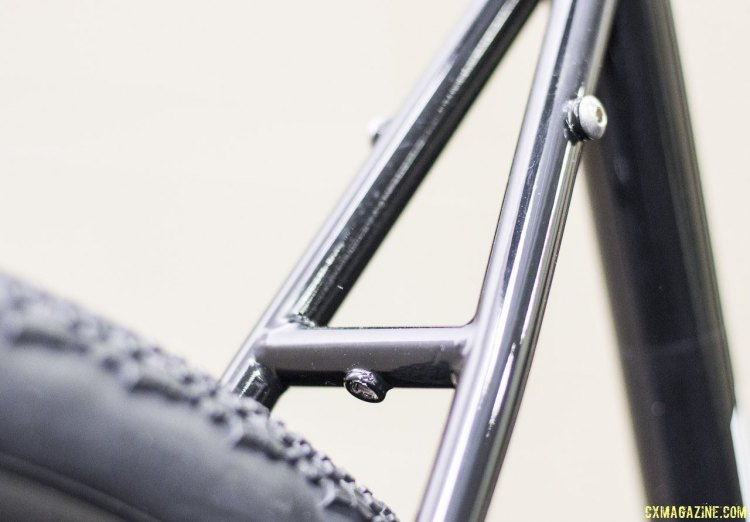 Zen Bike Co. Steel AR45 (All Road 45mm) is ready for racks and fenders. NAHBS 2015. © Cyclocross Magazine