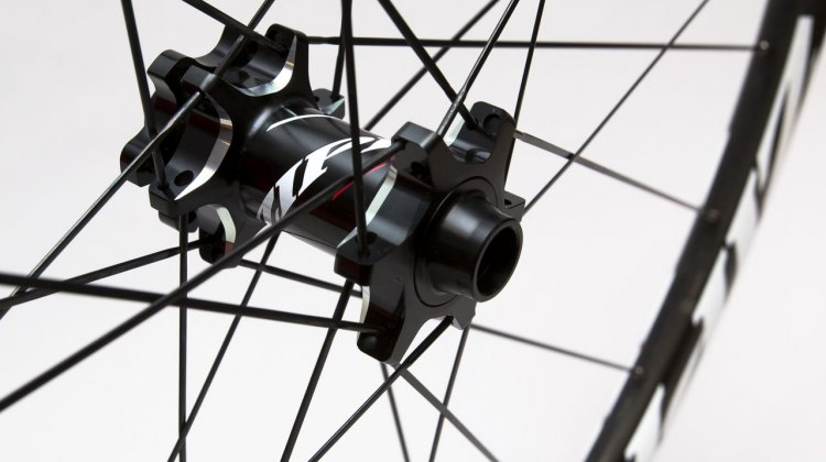 Zipp's new 77/177 hubs shed a few grams, and now accept thru axles with a change of the end caps. © Cyclocross Magazine