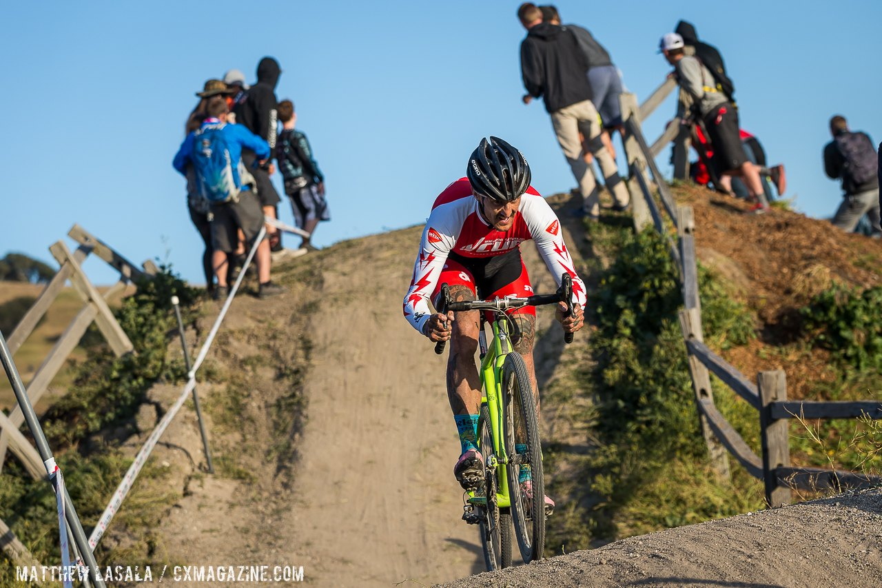 Ben Berden held on for second place at Sea Otter 2015. © Matthew Lasala / Cyclocross Magazine
