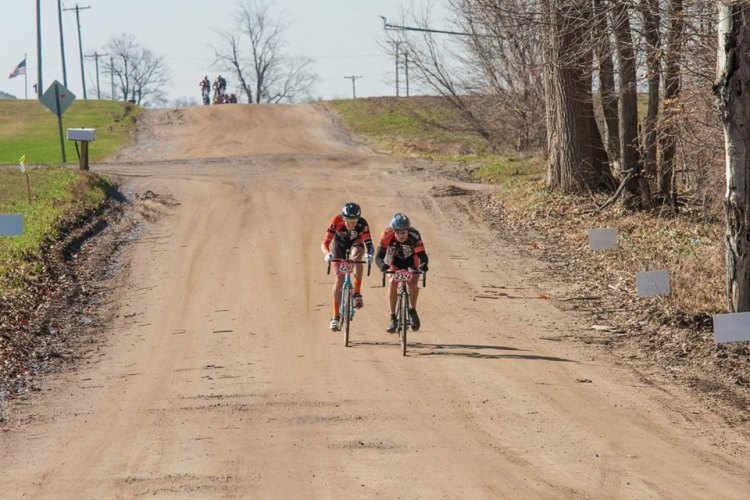 The Lowell 50 race is far more gravel than pavement at Fallasburg County Park. © Jack Kunnen