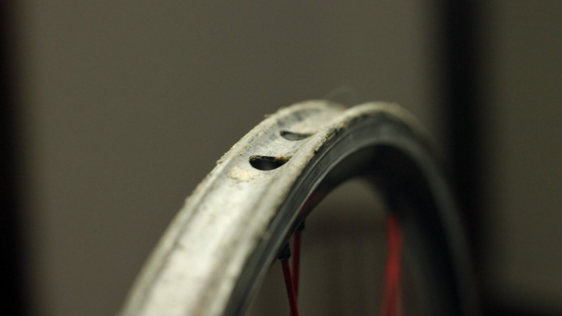 The off-season is a great time to clean off those rims and prepare for the fall. © Cyclocross Magazine