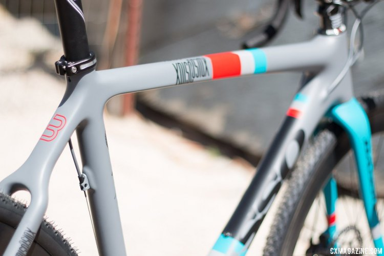 Italy's Basso says its frame its full carbon monocoque XDisc cyclocross frame is made from start to finish in italy. Sea Otter 2015. © Cyclocross Magazine