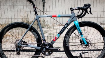 Italy's Basso is bringing its XDisc carbon cyclocross bike to the States, selling direct to dealers, and offers Microtech wheels and cockpits. Sea Otter 2015. © Cyclocross Magazine