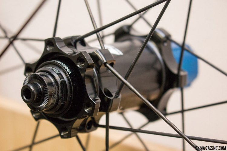 Easton's M1 hubs are used on the disc versions of the EC90 SL carbon tubeless and tubular wheelset. © Cyclocross Magazine